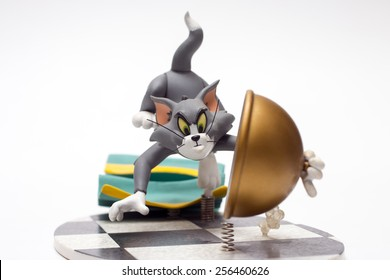 Istanbul, Turkey - February 26, 2015: Tom and Jerry is an American animated series of short films created in 1940 by William Hanna and Joseph Barbera.