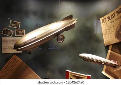 Istanbul, Göztepe / Turkey - February 3 2017: Istanbul Toy Museum, zeppelin.