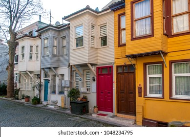 Istanbul, Turkey - January 02, 2018 :Traditional Kuzguncuk houses.