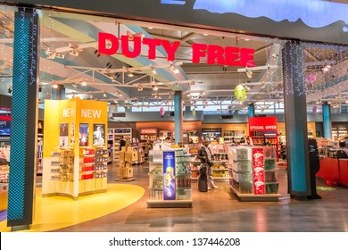 ISTANBUL, TURKEY - JANUARY 03: Duty Free Shop on January 03, 2012 in Istanbul, Turkey. Duty free shops are retail outlets that are exempt from the payment of certain local or national taxes and duties