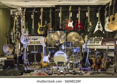 Istanbul, Turkey; January 07, 2015: Music shop from Istiklal Street, most known district from the Istanbul
