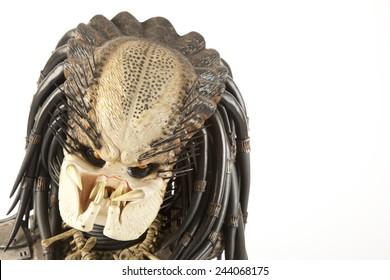 Istanbul, Turkey - January 14, 2015: Isolated studio shot of the Predator character.