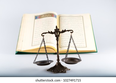 Istanbul / Turkey - January 18 , 2018 ; Koran,holy book of Muslims and rosary on the lectern for Friday, Ramadan concept.