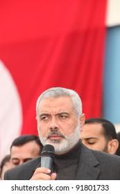 ISTANBUL, TURKEY - JANUARY 2 : Palestinian Prime Minister Ismail Haniyeh visited Mavi Marmara Ship on January 2, 2012 in Istanbul,Turkey.