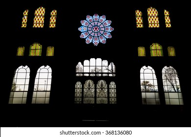 Istanbul, Turkey; January 24, 2015: Interior of Sirkeci Train station with reverse light