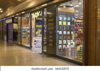 Istanbul, Turkey - January 26, 2017: Nezih Book Stationery has been serving customers in book, stationery and toy areas since 1970. Atlas Park shopping center.
