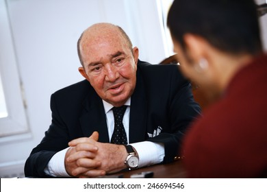 ISTANBUL, TURKEY - JANUARY 4: Famous Turkish producer, film director and screenwriter Turker Inanoglu portrait on January 4, 2011 in Istanbul, Turkey. He is the honorary president of the SESAM in 1997