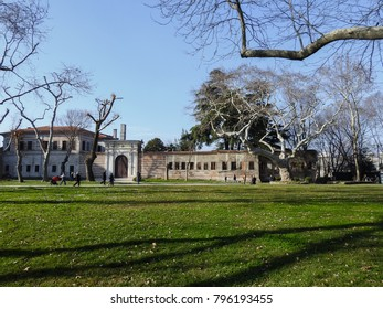 ISTANBUL, TURKEY - JANUARY 6 2018: Topkapi Palace (Saray-i Cedid-i Amire) - the main residence and administrative headquarters of the Ottoman sultans in the 15-19th century