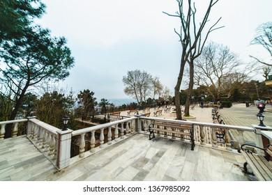 ISTANBUL, Turkey: Joshua's Hill, Turkish: Yusa Tepesi, a hill located on the Anatolian shore of Bosporus in Beykoz district of Istanbul, Turkey on 6th April 2019