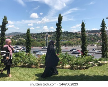 ISTANBUL - TURKEY - JULY 10: Daily life of the city of Istanbul, on 10 July  2019, Istanbul, Turkey.