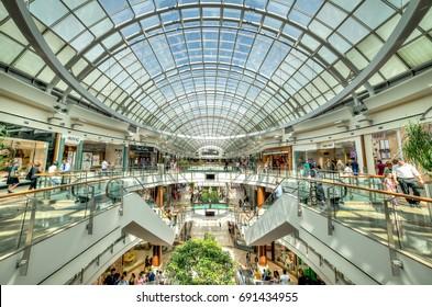 Istanbul, Turkey - July 16, 2015: Istinye Park shopping mall in Istanbul, Turkey.