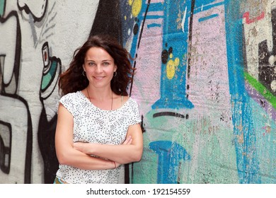 ISTANBUL, TURKEY - JULY 19: Famous Turkish actress, television series star and movie star Tulin Ozen portrait on July 19, 2013 in Istanbul, Turkey.