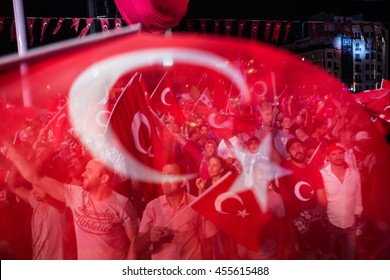 ISTANBUL, TURKEY - JULY 20:A military coup attempt plunged Turkey into a long night of violence and intrigue on July 20, 2016 in Istanbul, Turkey.
