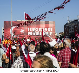 ISTANBUL, TURKEY - JULY 24: A military coup attempt plunged Turkey into a long night of violence and intrigue on July 24, 2016 in Istanbul, Turkey.