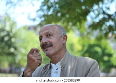 ISTANBUL, TURKEY - JULY 28: Iranian  photojournalist Reza Deghati portrait on July 28, 2011 in Istanbul, Turkey.
