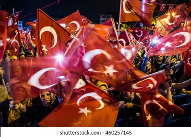 ISTANBUL, TURKEY - JULY 28:A military coup attempt plunged Turkey into a long night of violence and intrigue on July 28, 2016 in Istanbul, Turkey.