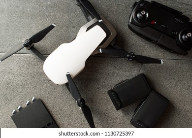 Istanbul, Turkey - July 3, 2018: DJI MAVIC AIR - FLY MORE COMBO PACK - COMPACT DRONE BY DJI
