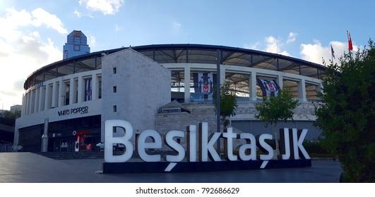 ISTANBUL, TURKEY - JULY 31, 2017:  Vodafone  Arena, home stadium to Besiktas soccer team