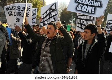 ISTANBUL, TURKEY- JUNE  11: Unidentified demonstrators in Turkey. protested the education system  on June 11, 2009 in Istanbul,Turkey