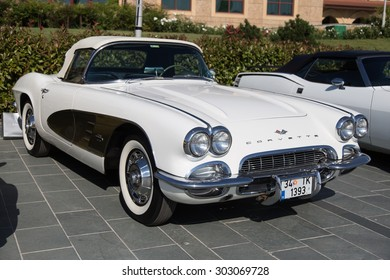 ISTANBUL, TURKEY - JUNE 14, 2015: Chevrolet Corvette (C1) in Istanbul Concours d'Elegance. Concours d'Elegance referring to the gathering of prestigious cars over 100 years.