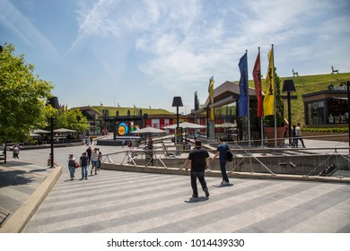 Istanbul, Turkey - June 17, 2017: Square shopping center. It is the shopping center which has the biggest land of Istanbul.