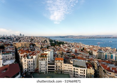 Istanbul Turkey. June 2015.Cityscape view from Galata tower.
