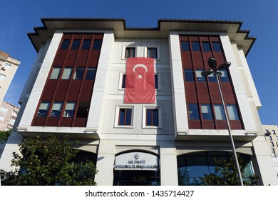 ISTANBUL, Turkey- June  23, 2019: Justice and Development Party's (AKP) headquarters in Istanbul