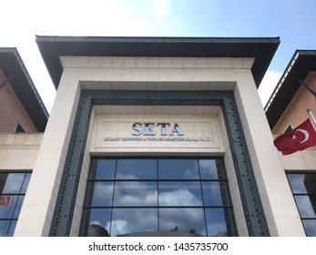 ISTANBUL, Turkey- June 26, 2019: Foundation for Political, Economic and Social Research (SETA) Istanbul headquarters