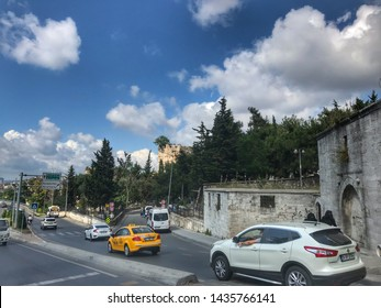 ISTANBUL, Turkey - June 26, 2019: Historical Ruins, Edirnekapi, Fatih district