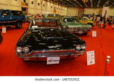 ISTANBUL, TURKEY - JUNE 29, 2019: Ford Thunderbird display at Istanbul Classic Automobile Festival