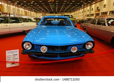 ISTANBUL, TURKEY - JUNE 29, 2019: Ford Maverick display at Istanbul Classic Automobile Festival