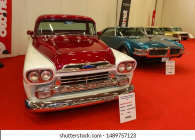 ISTANBUL, TURKEY - JUNE 29, 2019: Chevrolet Apache display at Istanbul Classic Automobile Festival