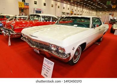ISTANBUL, TURKEY - JUNE 29, 2019: Chevrolet Impala display at Istanbul Classic Automobile Festival