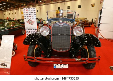 ISTANBUL, TURKEY - JUNE 29, 2019: Ford Model A Deluxe Roadster display at Istanbul Classic Automobile Festival