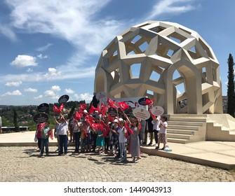 ISTANBUL, TURKEY - JUNE 6, 2019: July 15 Martyrs Memorial (15 TEMMUZ SEHITLER ANITI) in Istanbul. Turkey
