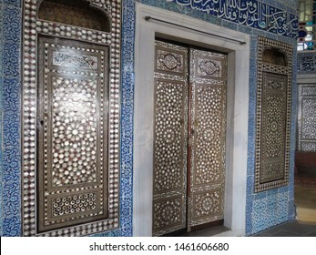 ISTANBUL, TURKEY - JUNE 6, 2019: A view of interiors of the Topkapi Palace in Istanbul, Turkey. Topkapi palace had served the Ottoman Sultans since the 15th century.