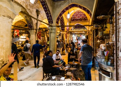 ISTANBUL, TURKEY- June18, 2018: The Grand Bazaar in Istanbul is one of the largest and oldest covered markets in the world, with 61 covered streets and over 4,000 shops