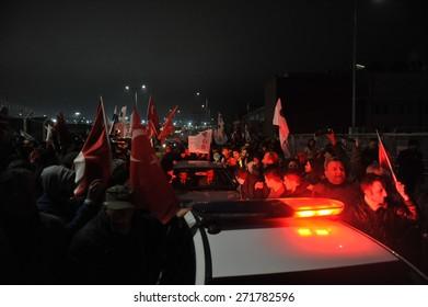 ISTANBUL  ,TURKEY - MARCH 07:  Turkish  former army chief Ilker Basbug press conference  on March 07 , 2014  in  Istanbul, Turkey. Ilker Basbug, the fans welcomed