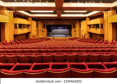 Istanbul, Turkey - March 12, 2019; CRR Concert Hall (Cemal Resit Rey Concert Hall) Istanbul, Turkey.