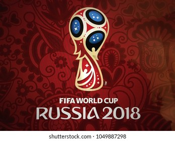 Istanbul, Turkey - March 15, 2018: Russia World Cup 2018 logo.