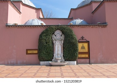 Istanbul - Turkey: March 2019. Hurrem Sultan Fountain in Sultan Ahmed Square. Ottoman style architecture and arts