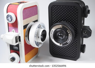 istanbul, Turkey - March 2019 : La Sardina is one of the iconic analog cameras of Lomography. For its design, inspired by Sardina tins.