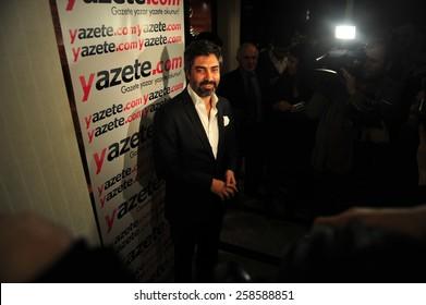 ISTANBUL, TURKEY - MARCH 23: Turkish actor, Necati Sasmaz  portrait on March 23, 2012 in Istanbul, Turkey.