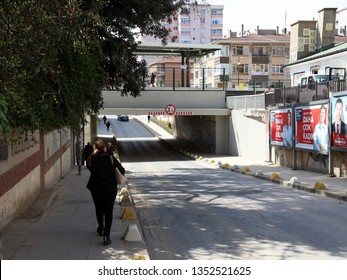 Istanbul / Turkey - March 28, 2019: Feneryolu Marmaray train station underpass.