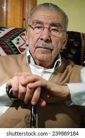ISTANBUL, TURKEY - MARCH 9: Kurdish politician Abdulmelik Firat portrait on March 9, 2009 in Istanbul, Turkey. He died 29  September 2009.
