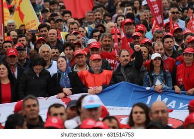 ISTANBUL, TURKEY - MAY, 01, 2017: Labor Day celebration