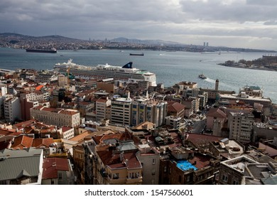 Istanbul, Turkey- May 02, 2011. Variety pictures of local ferry boats are carrying passengers from one side to other in the Bosphorus strait, in Istanbul.  - Shutterstock ID 1547560601