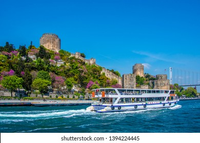 Istanbul, Turkey - May 03, 2019 : People are taking tour on Istanbul Bosphrous