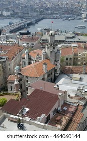 ISTANBUL, TURKEY - MAY 04, 2009: View of the city and the river from the Galata Tower