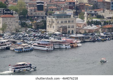 ISTANBUL, TURKEY - MAY 04, 2009: Ferry station on the Bosphorus river